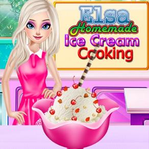 Elsa Homemade Ice Cream Cooking