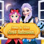 Anna And Elsa First Halloween