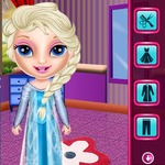 Baby Elsa Winter Shopping Spree
