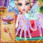 Elsa Christmas Manicure