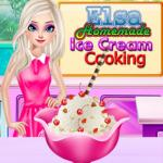 Elsa Homemade Ice Cream Cooking