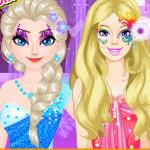 Elsa vs Barbie Make Up Contest