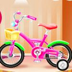 Girl Bike Fix And Washing Salon