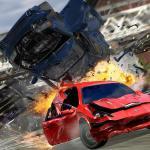 Insane Car Crash Burnout